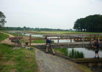 Herstel brug stuw Besselink Almen 1 - Bargeman Vorden aannemersbedrijf