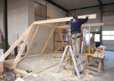 Prefab kapconstructie woninguitbreiding 4 - Bargeman Vorden aannemersbedrijf